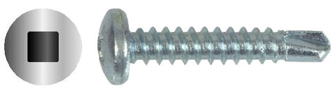 "#8 X 1/2"" Square Pan Self-Drilling Screw Zinc"