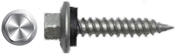 "#9 X 1"" Hex Washer Head Sheet Metal Screw Galvanized"
