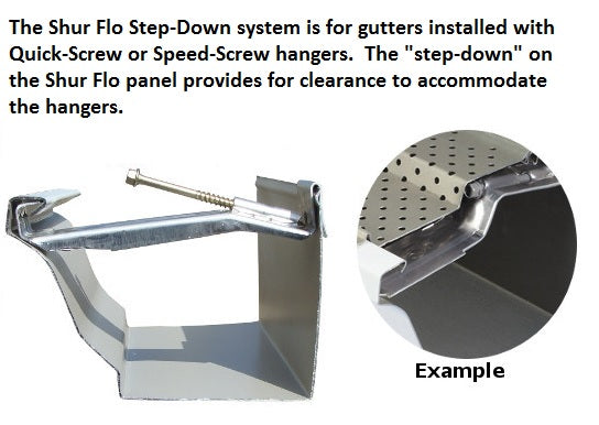 5 Quot Shur Flo Step Down Gutter Leaf Guard 200 Feet Mill