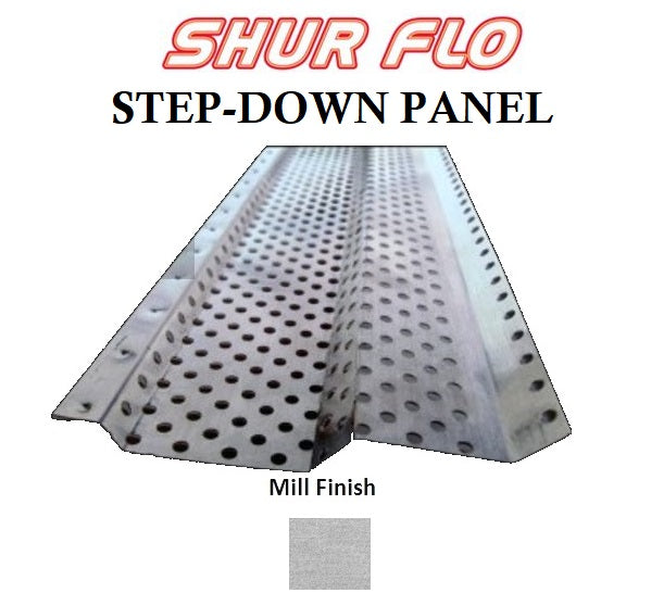 6 Quot Shur Flo Step Down Gutter Leaf Guard 200 Feet Mill