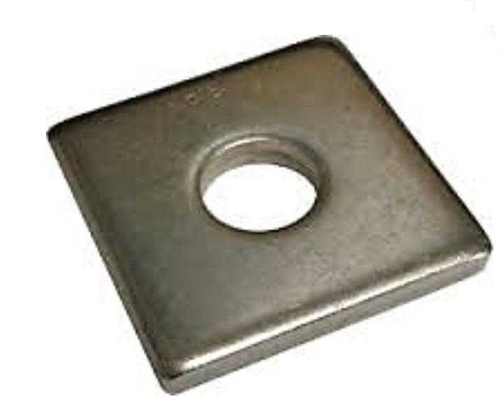 3 Quot X 3 Quot X 1 4 Quot 9 16 Quot Hole Square Plate Washer Hdg
