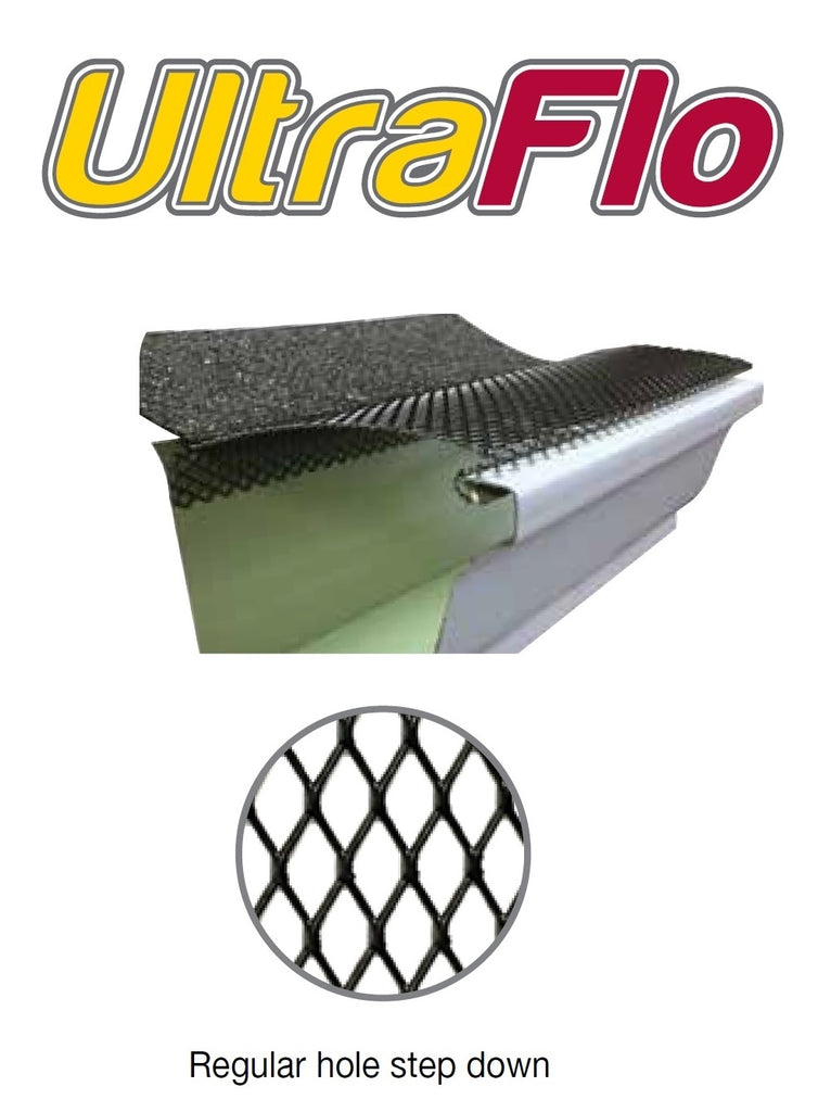 5 Quot Ultra Flo Gutter Leaf Guard Step Down Regular Hole