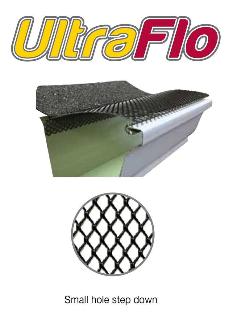 6 Quot Ultra Flo Gutter Leaf Guard Step Down Small Hole