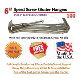 "6"" Speed-Screw Gutter Hanger 