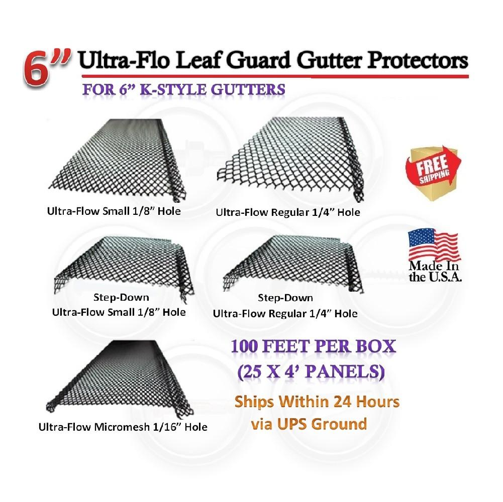 6 Quot Ultra Flo Gutter Leaf Guard Regular Hole 100 Feet