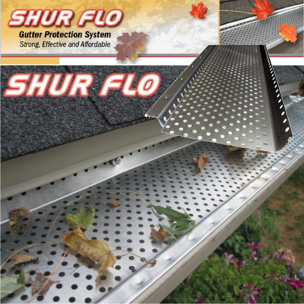 6 Quot Shur Flo Gutter Leaf Guard 80 Feet Copper Tms