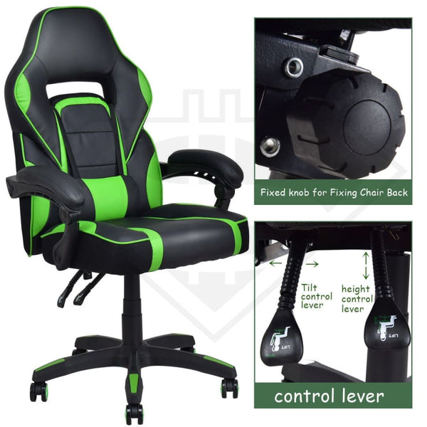 High Back Recliner Leather Computer Gaming Chair Office