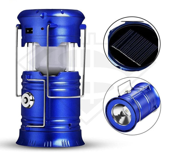 Led Solar Collapsible Camping Lantern Flashlight Gear