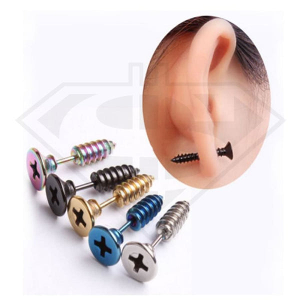 Punk Nail Stud Earrings