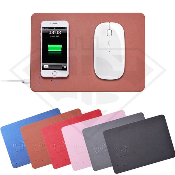 Wireless Qi Charging Mouse Pad Phone