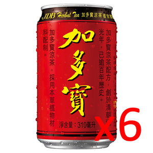 加多宝王老吉凉茶 6只装 JDB Traditional Chinese Herbal Tea 6*310ml