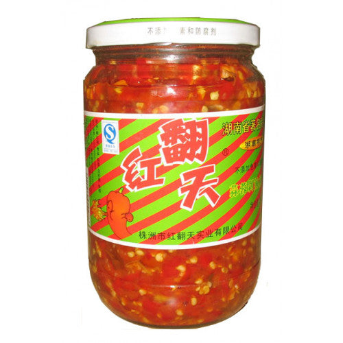 红翻天蒜蓉剁辣椒700g garlic and chilli sauce