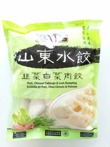 山东水饺韭菜白菜肉饺 800g pork Chinese cabbage & leek dumpling