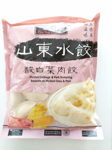 山东水饺酸白菜肉饺 800g pickled cabbage and pork dumpling