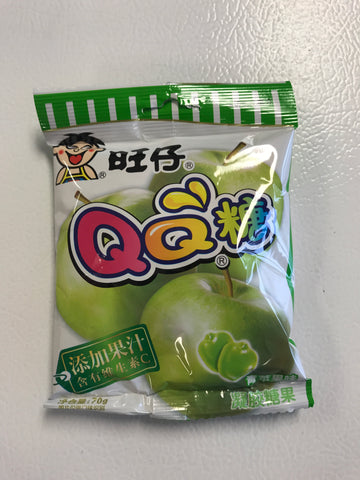 旺仔QQ青苹果软糖 70g soft candy green apple flavour