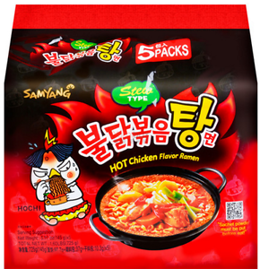 三养辣鸡面汤面 5*140g Samyang spicy chicken instant noodle stew type