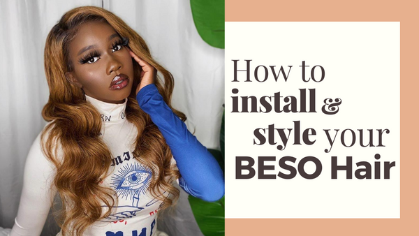How to install and style a lace hair wig