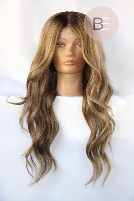 Beige Blonde Lace Front Wig