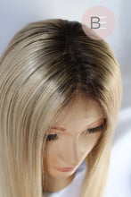 BLONDE WIG WITH DARK ROOTS