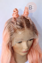 pink hair with dark roots wig