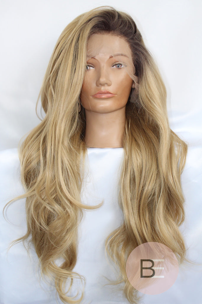 Blonde Synthetic Hair Lace Front Wig