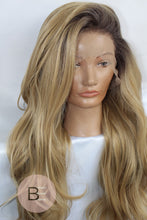 Natural Blonde Synthetic Hair Lace Front Wig