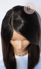 Brunette Full Lace Wig close-up