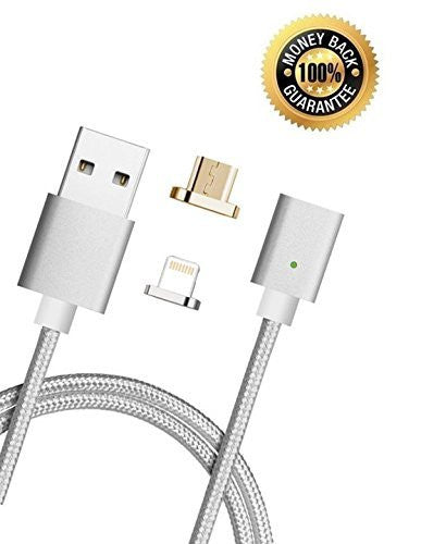 Magnetic USB Charger Cable Lightning for iPhone and Micro USB Androids