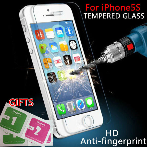 0.3mm 9H Premium Anti Shatter Tempered Glass film For iPhone