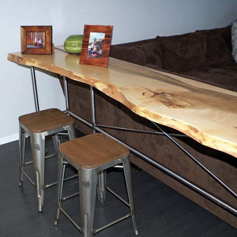 Live Edge Side Tables, End Tables, Sofa Tables and Credenzas