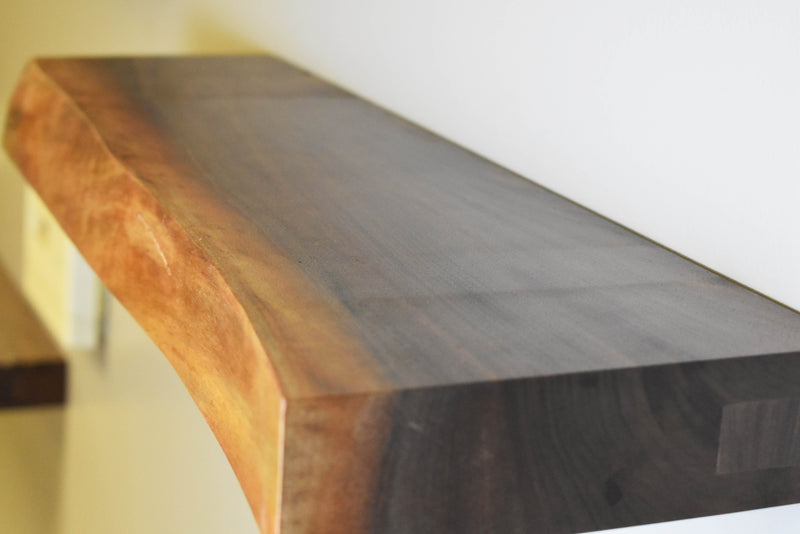Cherry Live Edge Floating Shelf