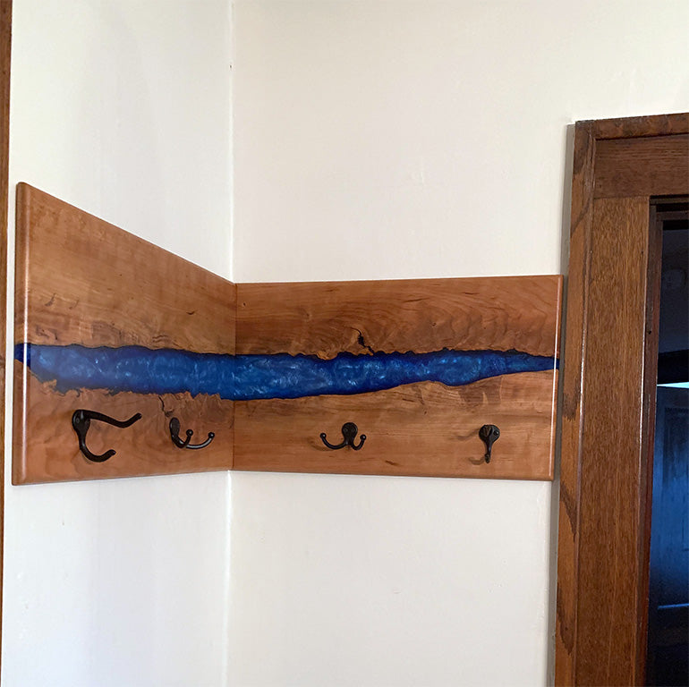 Epoxy Resin Cherry Coat Hanger