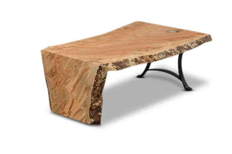 Spalted Maple Waterfall Coffee Table
