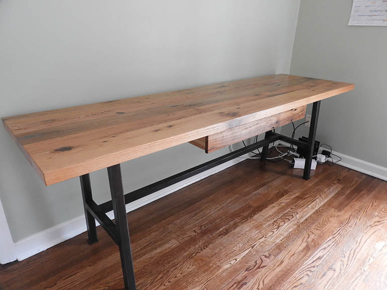 Rustic Barn Wood Desk