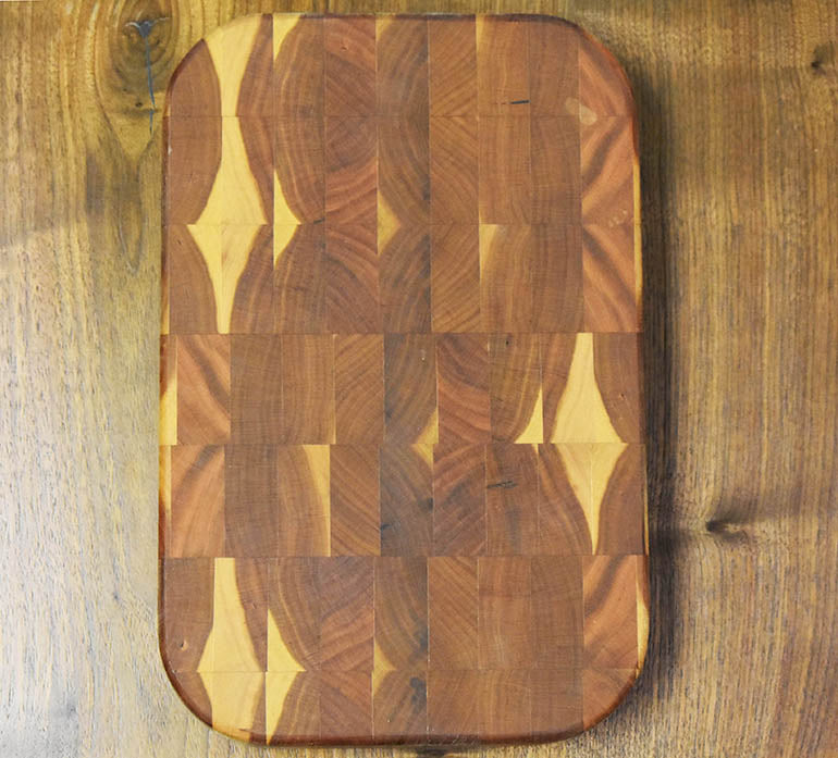Cherry Wood End Grain Cutting Board | Price $69 | Tung Oil And Beeswax Finish | Handcrafted In Ohio