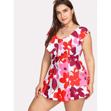 Floral Flounce Swim Dress Set
