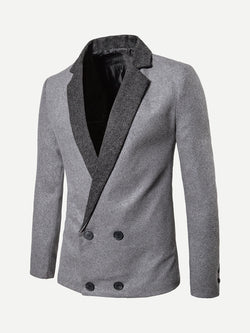 Men Double Breasted Blazer