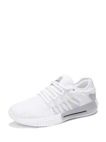 Men Mesh Panel Lace Up Sneakers