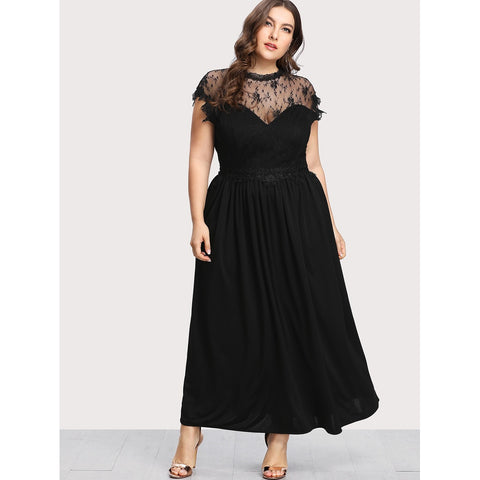 Guipure Lace Panel Dress