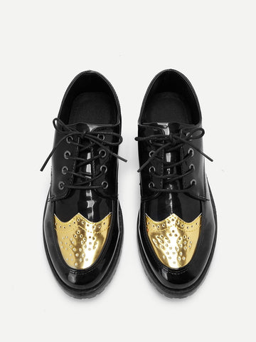 Men Lace Up Low Top Shoes