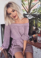 Aenya Off-shoulder kjole