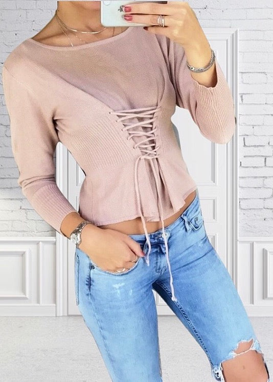 Fannia Nude Sweater
