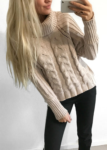 Phoebe Beige Sweater