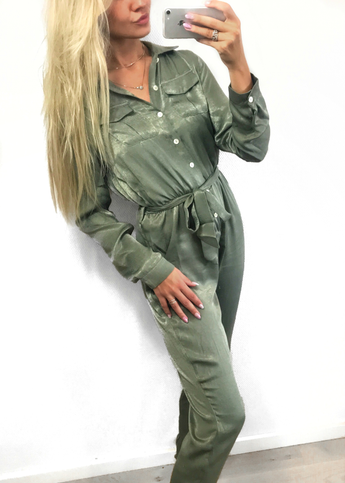 Geo Green Jumpsuit