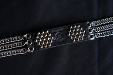 hand made chainmail punk belt leather