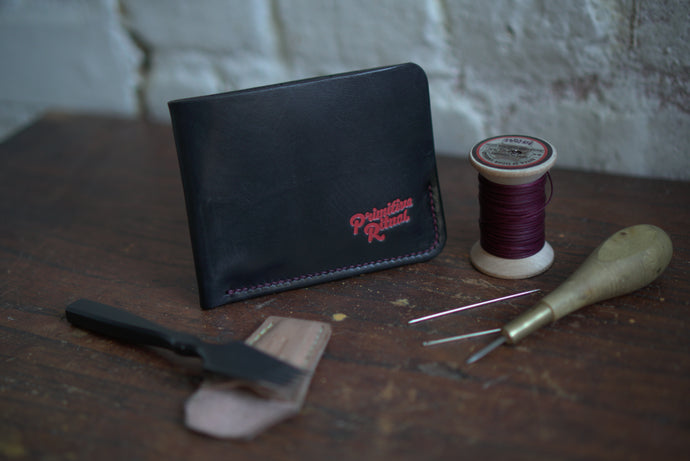 Corner Pocket wallet saddle stitched