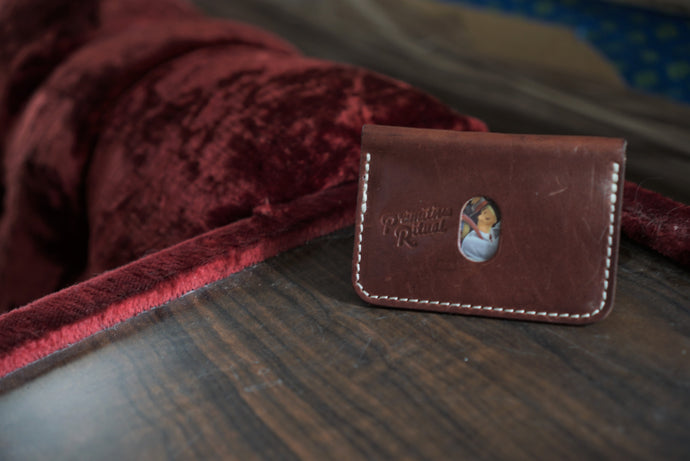 Wickett and craig harness leather wallet