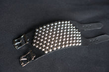 Leather studded bracelet punk fashion