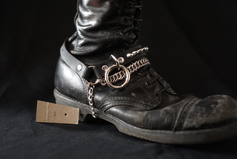 Sister Suspect Collab. Chainmaille Bootstrap - Small 77's with Bondage Ring
