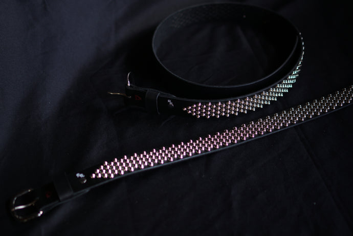 Handmade studded punk belt